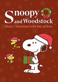 สติ๊กเกอร์ไลน์ชุด Snoopy & Woodstock คริสต์มาส