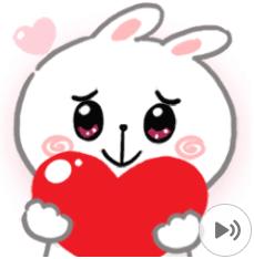 สติ๊กเกอร์ไลน์ชุด N9: CHEER Rabbit Animated 2