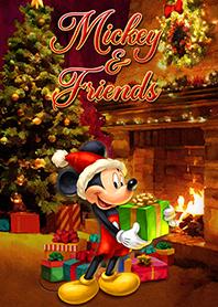 สติ๊กเกอร์ไลน์ชุด Mickey and Friends (Christmas)
