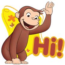 สติ๊กเกอร์ไลน์ชุด Curious George เฮฮาทุกวัน!