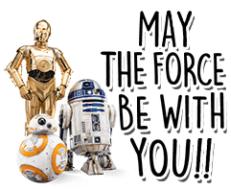 สติ๊กเกอร์ไลน์ชุด Star Wars ตัวละครฮอตฮิต