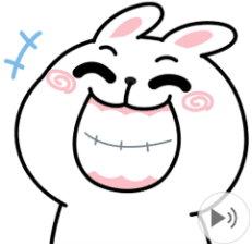 สติ๊กเกอร์ไลน์ชุด N9: กระต่ายเชียร์ ดุ๊กดิ๊ก x3